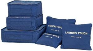 Blå 6st Insatser till resväskor