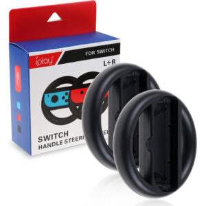 Svart Joy-Con Wheel 2st till Nintendo Switch