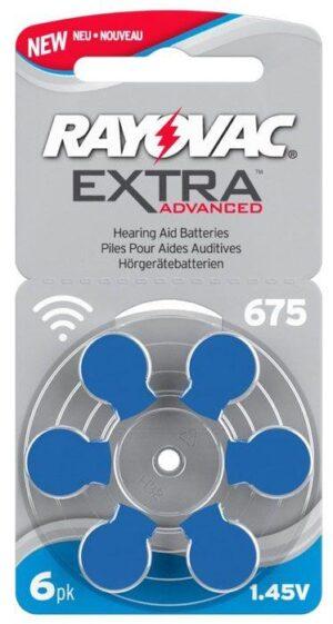Rayovac EXTRA Advanced 675 BLÅ 6 st