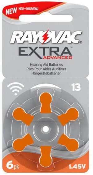 Rayovac EXTRA Advanced 13 ORANGE 6 st