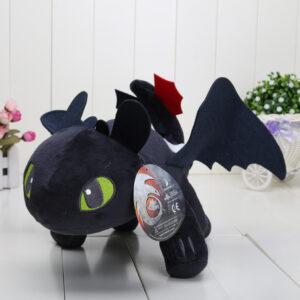Svart 42cm How To Train Your Dragon - Toothless mjukisdjur