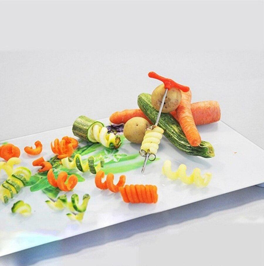 Spiral Slicer Grönsaksskärare, Rotfruktsskärare