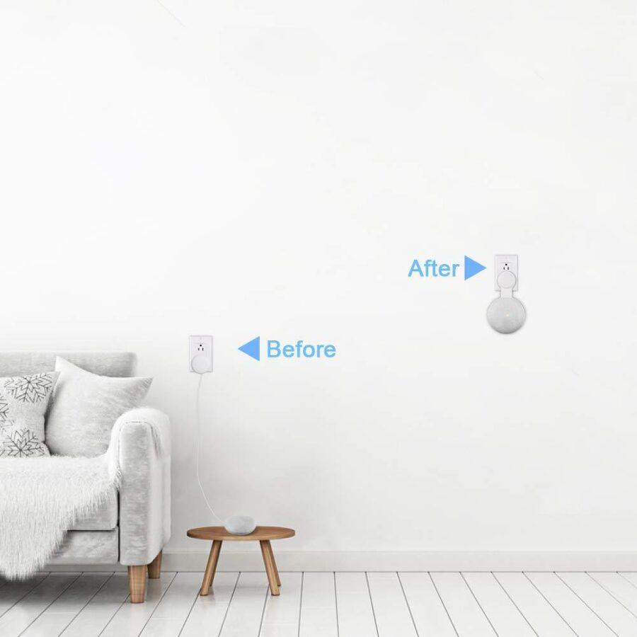 Väggfäste / Hängare till Google Nest Mini Vit