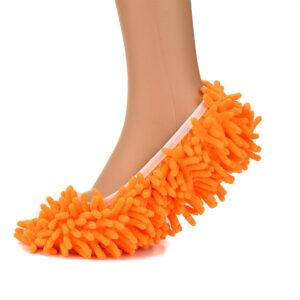 Ett par Orange Rengöring Mopp Skor golvmopp Skor