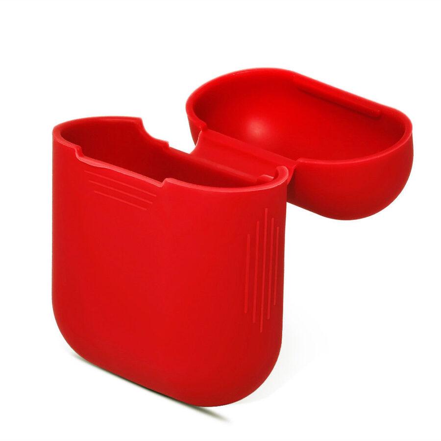 Silikon skal fodral för Apple Airpods / Airpods 2 - Röd