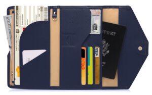 RFID Skydd - Blå Resa plånbok Passfodral