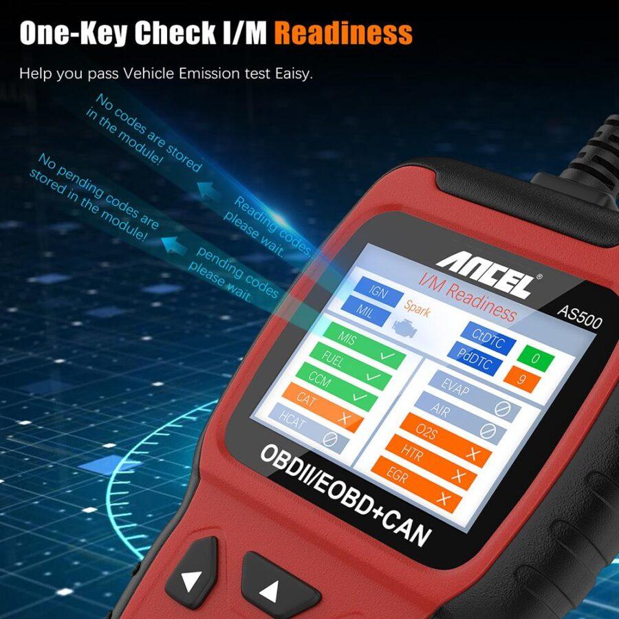 Felkodsläsare ANCEL AS500 OBD2 OBDII livstids fri uppdatering