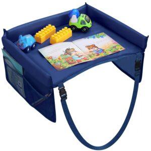 Blå Lekbord till bilbarnstol