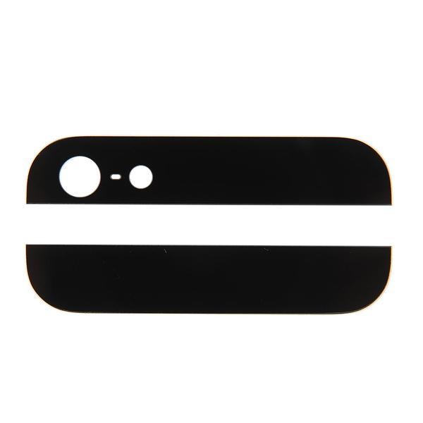 iPhone 5s Svart topp och botten glas för baksida