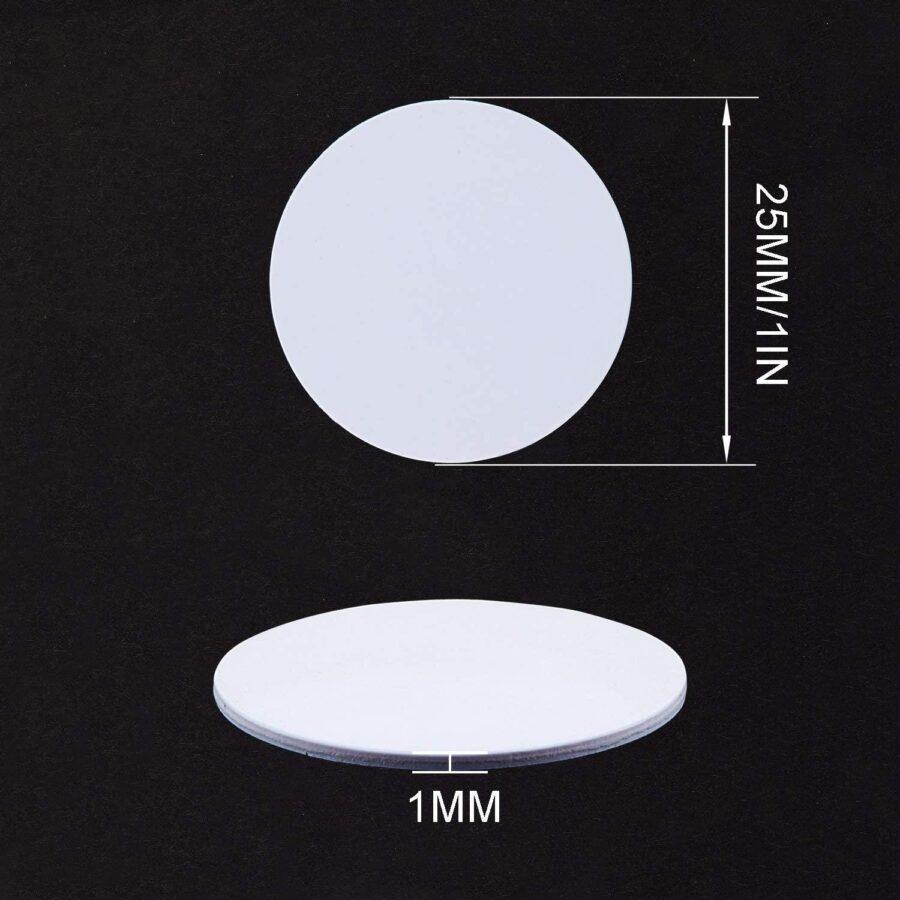 4st NFC Självhäftande tag 13.56MHz ISO14443A Ntag 215 Vit