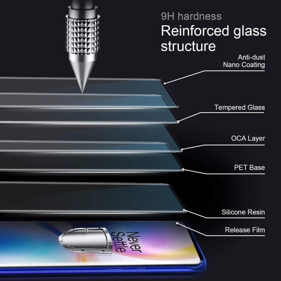 Glasskydd OnePlus 9 Härdat Täcker hela skärmen