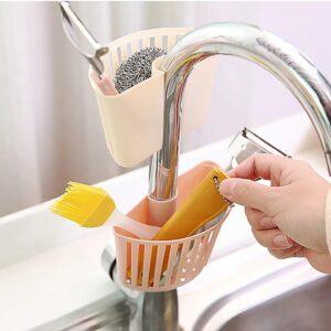 Beige Smart korg till kökskran, duschen