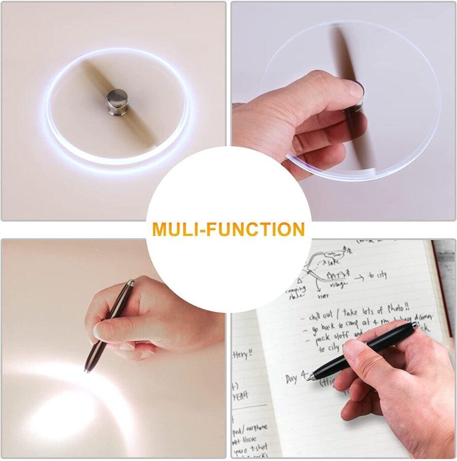 Rose Guld Fidget Penna 3 i 1 Penna, Fidget , Led Lampa
