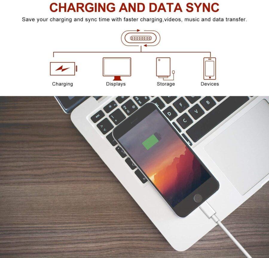 5X Lightning USB kabel till Apple för din iPhone, iPad 1m