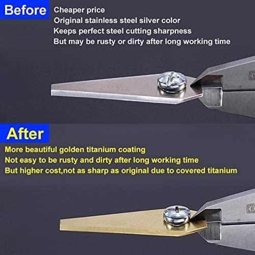 Titanbelagda knivar till Bosch Indego robotgräsklippare 9st