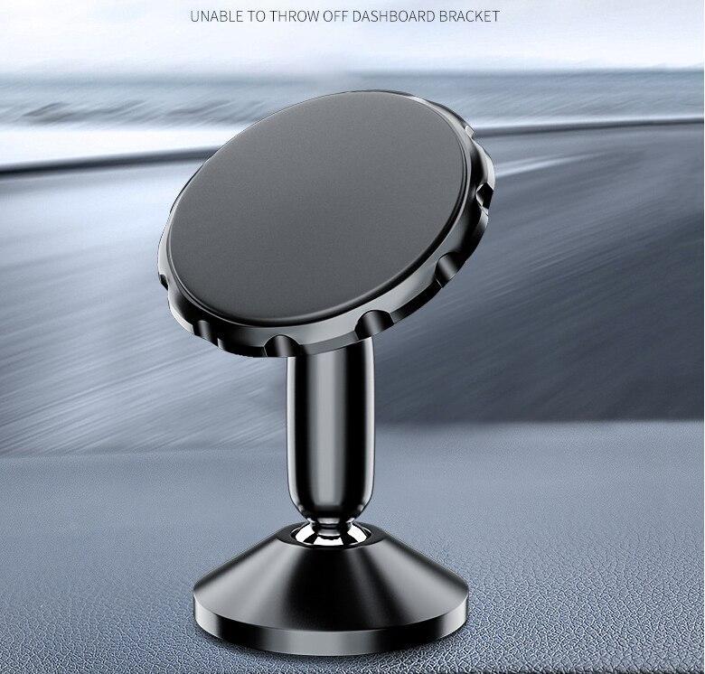 2X 360 Universal Magnetisk Mobil hållare till bilen Svart