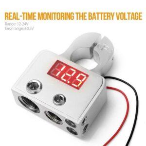 2x Batteriklämmor med LCD. Universal