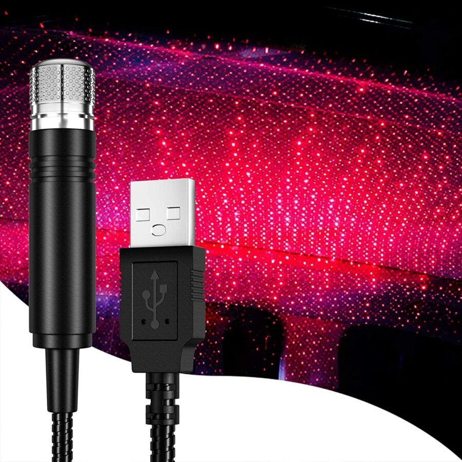 USB driven stjärnljus till bilen, hemmet, sovrummet...